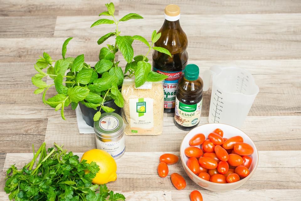 Petersilie Hirse Salat