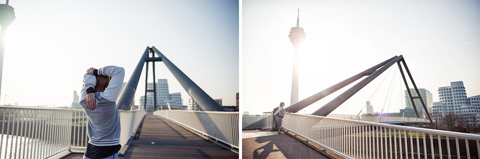 Training am Medienhafen in Düsseldorf für den Wings for Life World Run