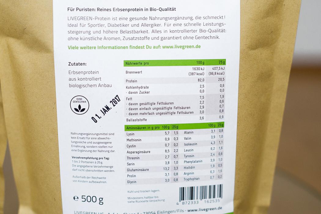 Erbsenprotein Aminosäureprofil