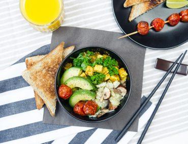 vegane frühstücks bowl