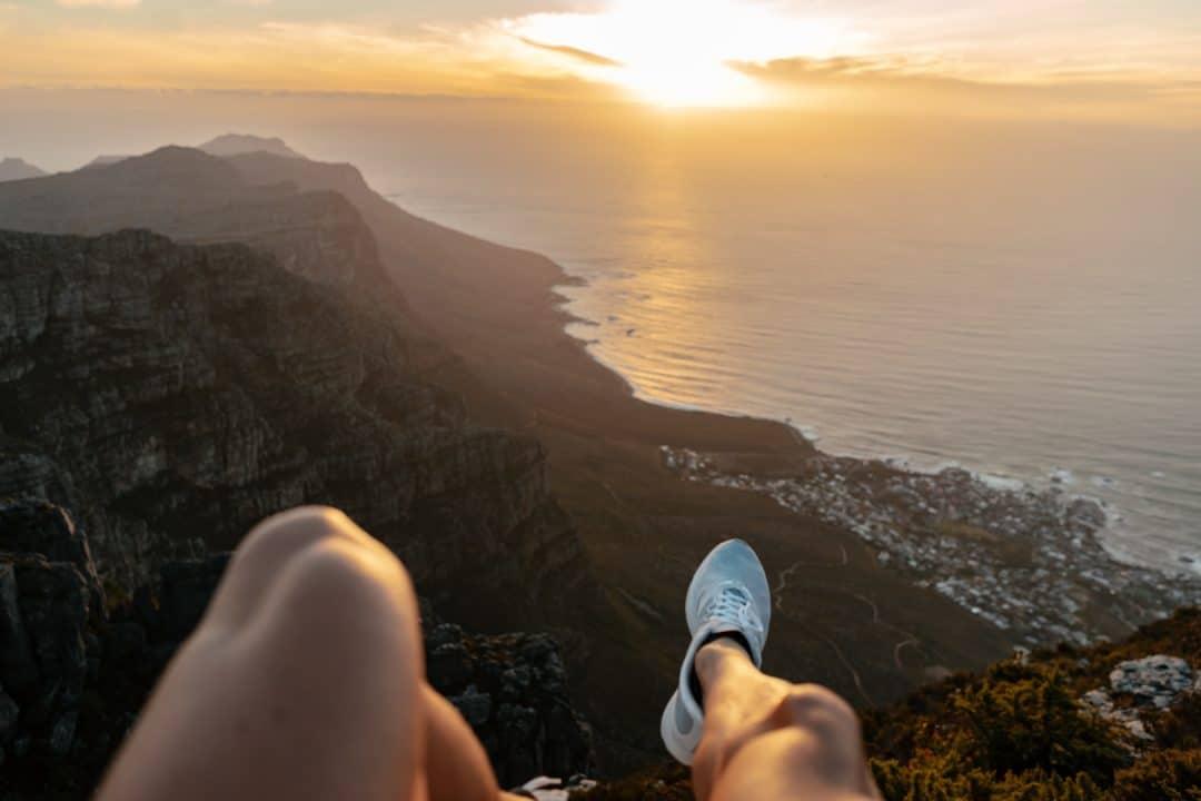 Cape Town, Kapstadt, Ausflug, berg, kletter, tablemountain, tafelberg, action, sonne, sonnenuntergang
