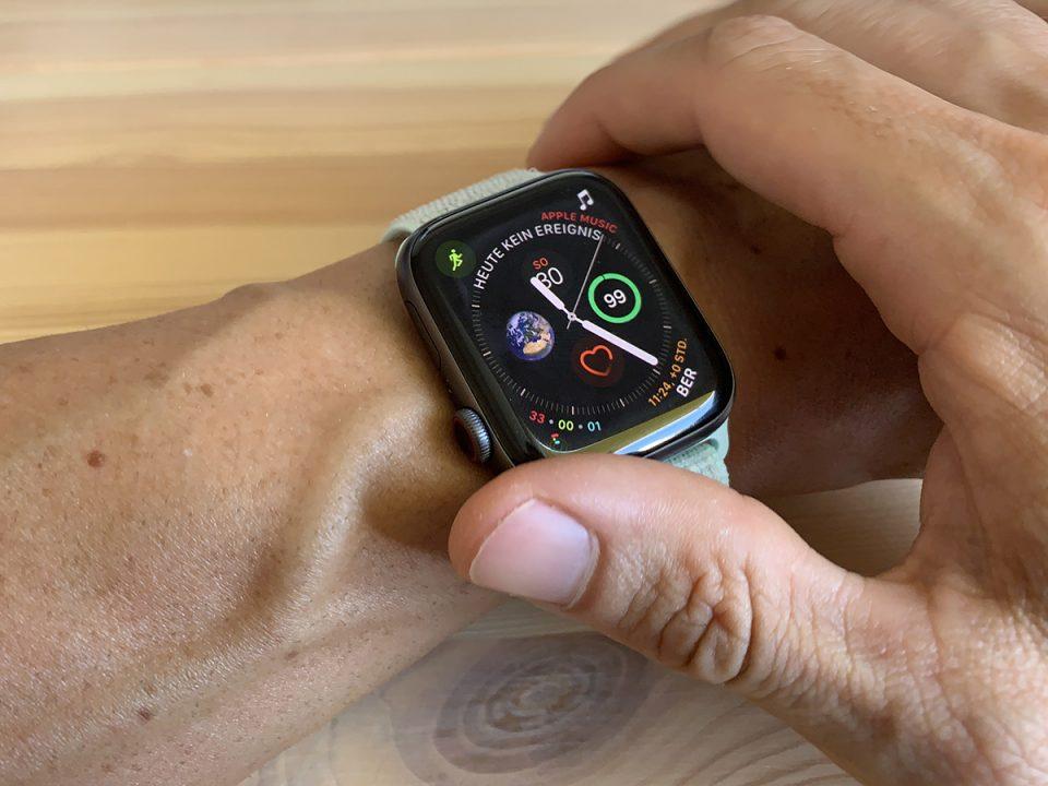 Apple Watch, Bedienung, Ausrichtung, Krone, Einstellung,