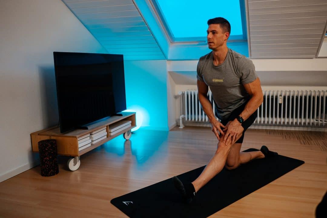 buntes licht, led licht, mobility, dehnen, Rückenschmerzen, home workout