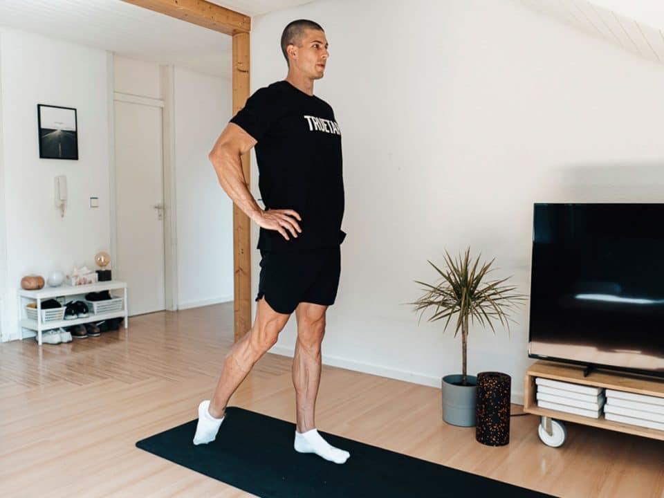 Plantarfaszie Dehnen Workout, Übungen