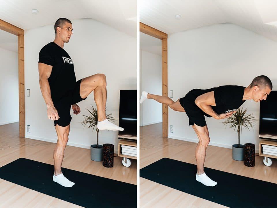 Standwaage, Ein-Bein-Stand, Truetape, Sprunggelenk stärken